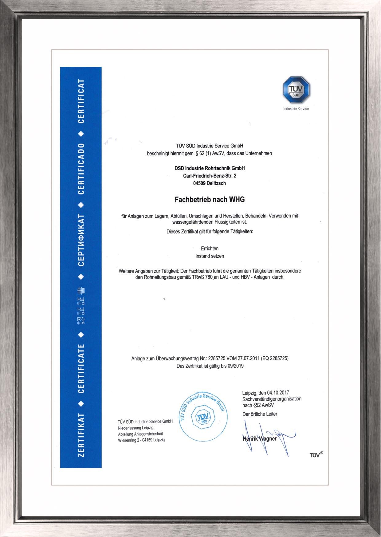 DSD Industrie Rohrtechnik, Delitzsch Privacy policy • DSD Industrie ...